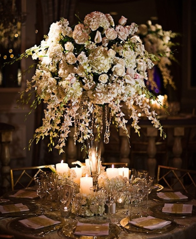 Flowers For A Wedding Reception: Imperial Design
